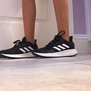 These are black and white adidas